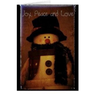 Joy Peace and Love Card