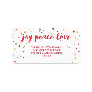 Joy Peace Love | Hearts & Stars | Christmas