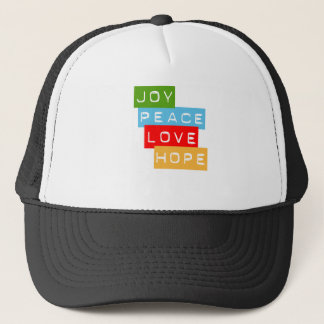 Joy Peace Love Hope Hat