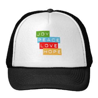 Joy Peace Love Hope Hat