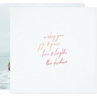 Joy & Peace, Love & Laughter Christmas Card
