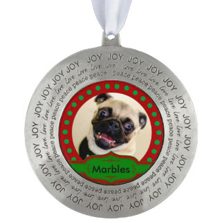 Joy, Peace, Love Personalized Pet Ornament