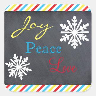 Joy, Peace, Love - Square Sticker