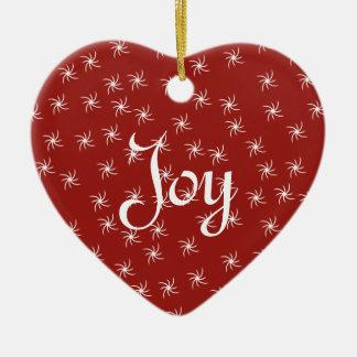 Joy & Peace Ceramic Heart Ornament