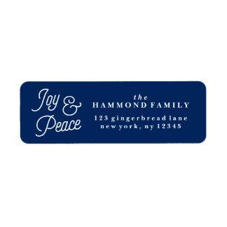 Joy & Peace Return Address Label