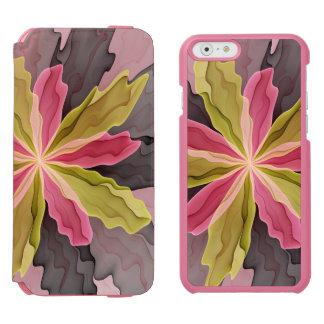 Joy, Pink Green Anthracite Fantasy Flower Fractal Incipio Watson™ iPhone 6 Wallet Case