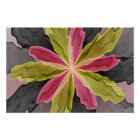 Joy, Pink Green Anthracite Fantasy Flower Fractal Poster
