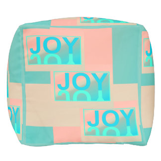 JOY Pouf-Home Decor-Peach/Pink/Blue/Aqua Pouf
