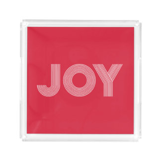 JOY | Red Holiday Acrylic Tray