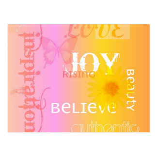 Joy Rising Pastel Postcard
