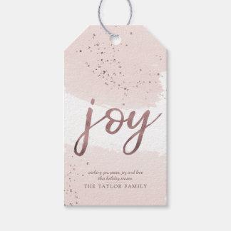 Joy | Rose Gold Christmas Gift Tags