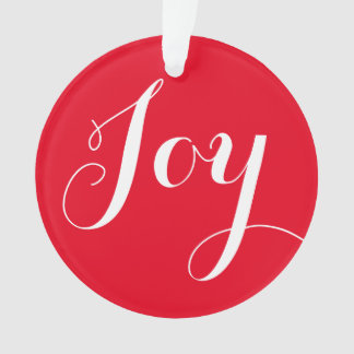 """Joy"" Round Christmas Ornament"