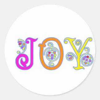 JOY! ROUND STICKER