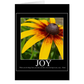 Joy Rumi Motivational Flower Card
