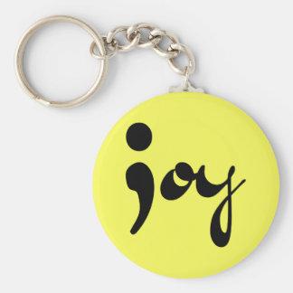Joy Semicolon Keychain