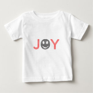 Joy - smiley - strips - black and red. baby T-Shirt