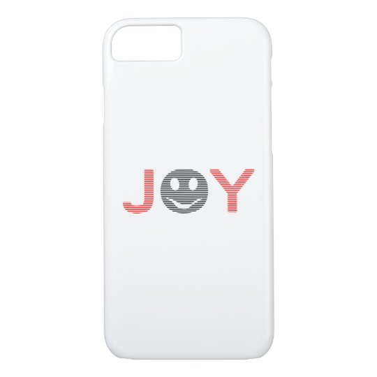 Joy - smiley - strips - black and red. iPhone 8/7 case