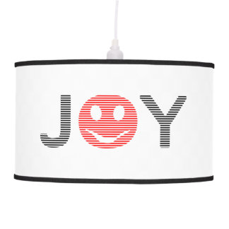 Joy - smiley - strips - black and red. pendant lamp