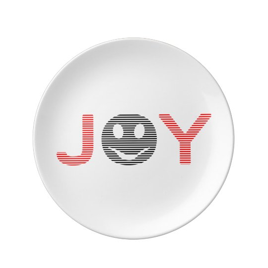Joy - smiley - strips - black and red. plate