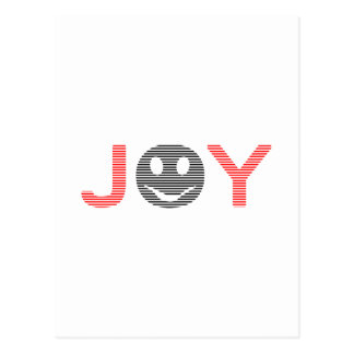 Joy - smiley - strips - black and red. postcard
