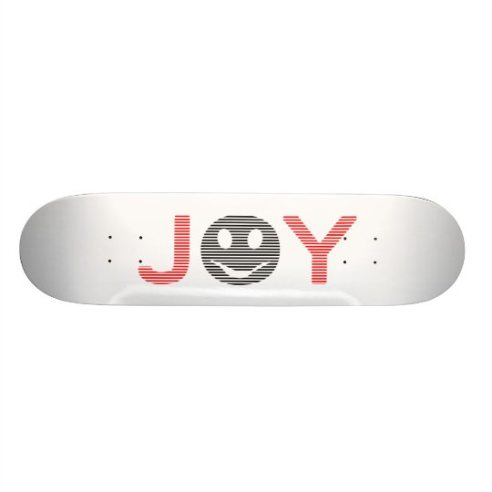 Joy - smiley - strips - black and red. skate boards