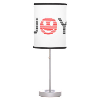Joy - smiley - strips - black and red. table lamp