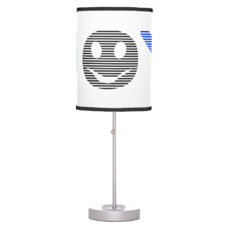 Joy - smiley - strips - blue and black. table lamp