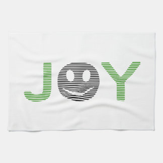 Joy - smiley - strips - green and black. kitchen towel