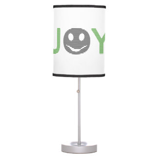 Joy - smiley - strips - green and black. table lamp