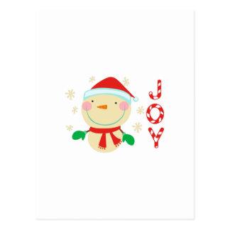 JOY SNOWMAN POST CARD
