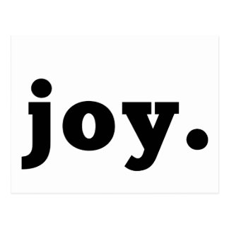 joy | Statement Postcard