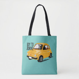 Joy to drive tote bag