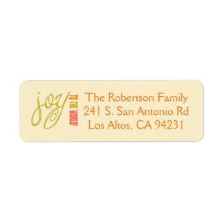 Joy to the World Address Label