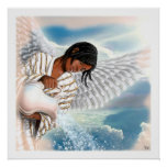 Joy to the World. Afro Angel Painting Art Print