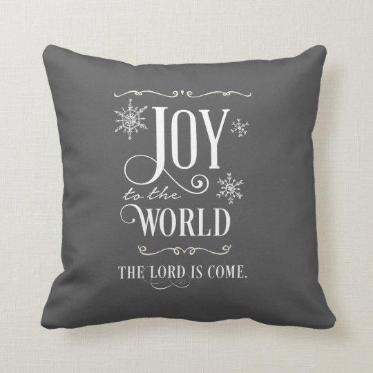 Joy to the World Chalkboard Christmas Pillow
