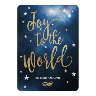 Joy to the World! Cheerful Christmas Card