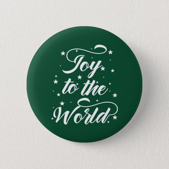 joy to the world Christmas 2 Inch Round Button