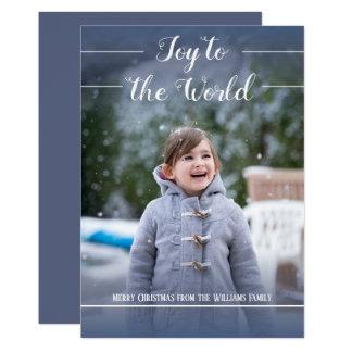 Joy to the World - Christmas Card - Flat Card