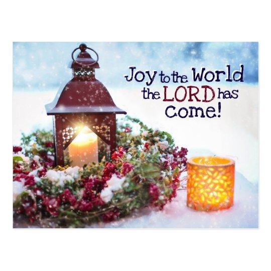 Joy to the World, Christmas Carol Postcard