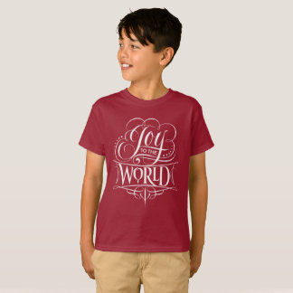 Joy to the World Christmas Chalkboard Lettering T-Shirt