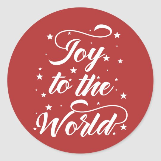joy to the world Christmas Classic Round Sticker