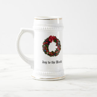 Joy to the World Christmas Holiday Stein 18 Oz Beer Stein