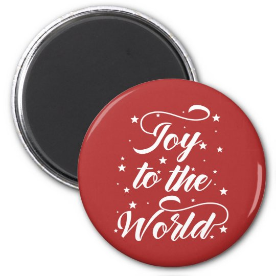 joy to the world Christmas Magnet