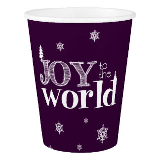Joy To The World Christmas Paper Cup