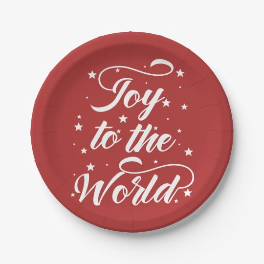 joy to the world Christmas Paper Plate