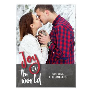 Joy to the World Christmas Photo Card