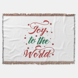 joy to the world Christmas Throw Blanket