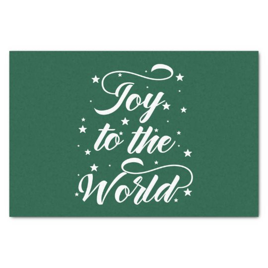 joy to the world Christmas Tissue Paper