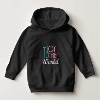 Joy to The World Christmas Typography Music Notes Hoodie