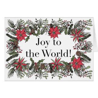 Joy to the World Christmas Wreath Card